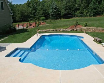 Roman End Inground Pool Design Ideas