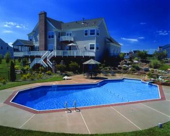 Grecian Inground Pool Design Ideas
