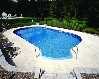 Oval Inground Shaped Pool Installation
