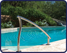 Pool Renovation Ideas - Designer Handrails and Ladders
