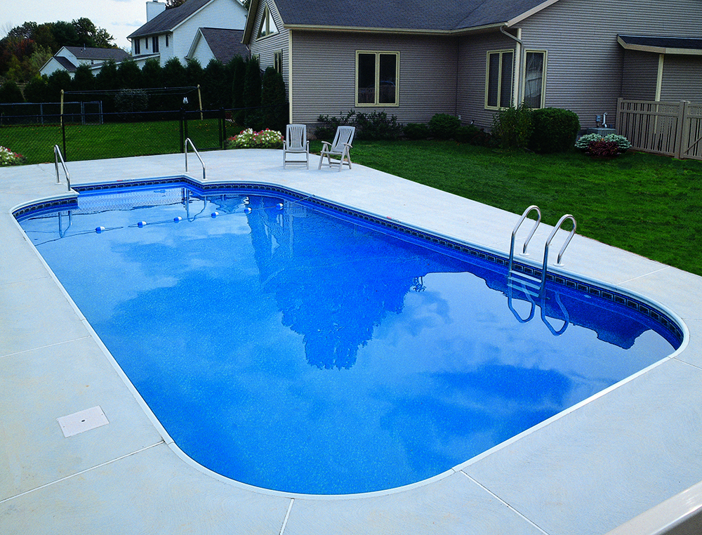 Legacy pool gallery 4ft radius rectangle for Lazy l swimming pool covers
