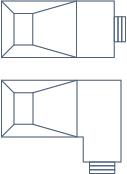 Radius 90° Rectangle Pool Shape Blueprints
