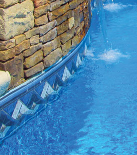 Inground Pool Liner Decor Options and Patterns - Geometric Liner Designs